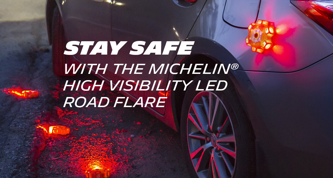 Stay Safe with the MICHELIN® high visibility LED road flare